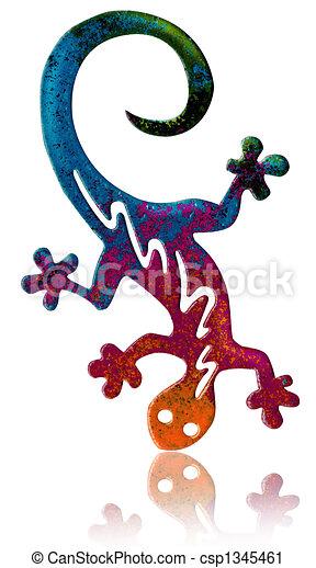 fantasy salamander artistic version of a colorful salamander