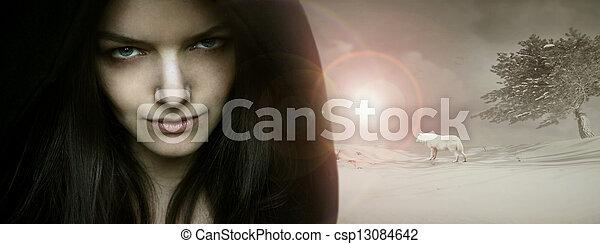 Fantasy seductive portrait - csp13084642