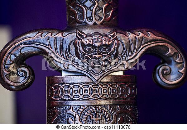 Fantasy sword detail - csp11113076