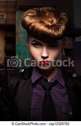 Fantasy. Trendy and Classy Girl Portrait. Glamour - csp12329762