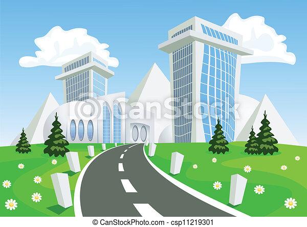Fantasy Vector city - summer - csp11219301