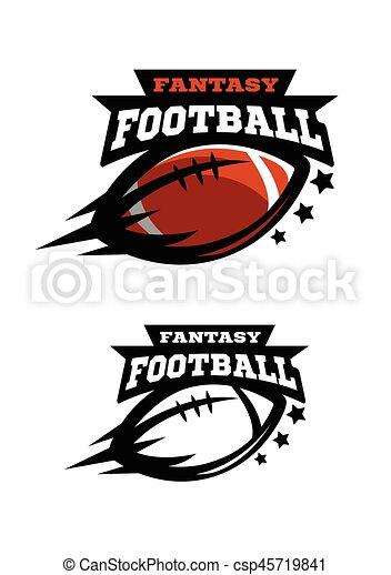 fantsy., fußball, zwei, amerikanische , logo., optionen - csp45719841