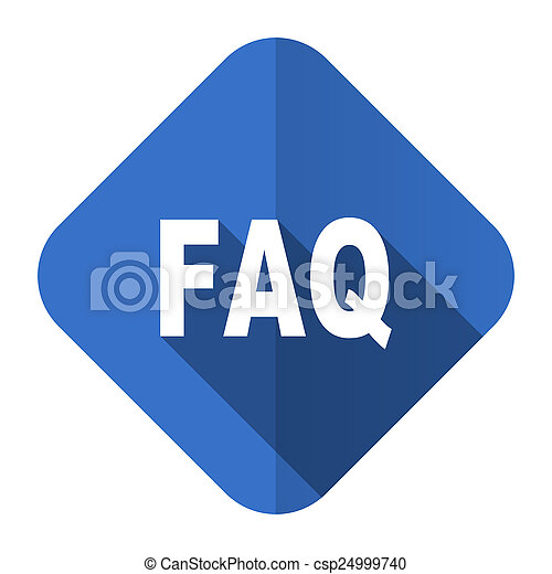 faq flat icon - csp24999740