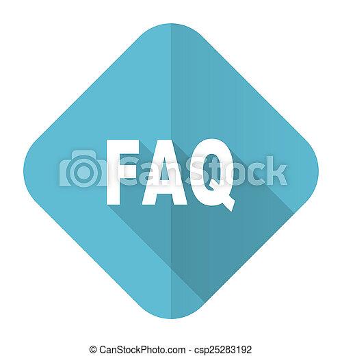 faq flat icon - csp25283192