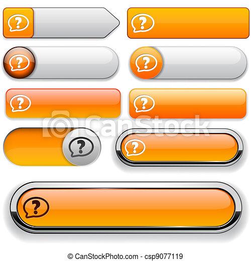 FAQ high-detailed web button collection. - csp9077119