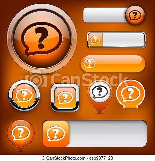 FAQ high-detailed web button collection. - csp9077123
