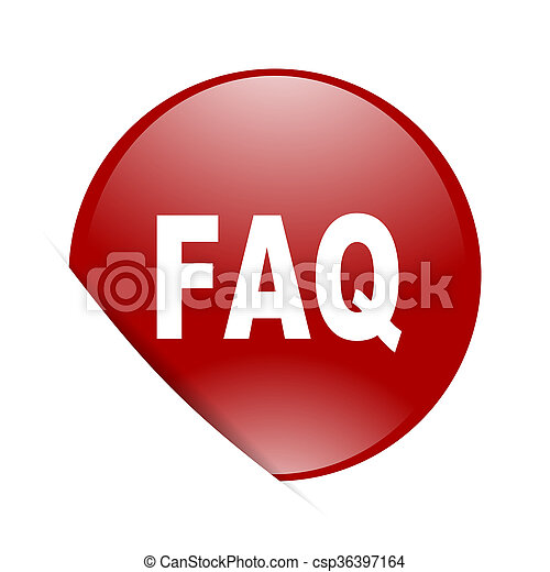 faq red circle glossy web icon - csp36397164