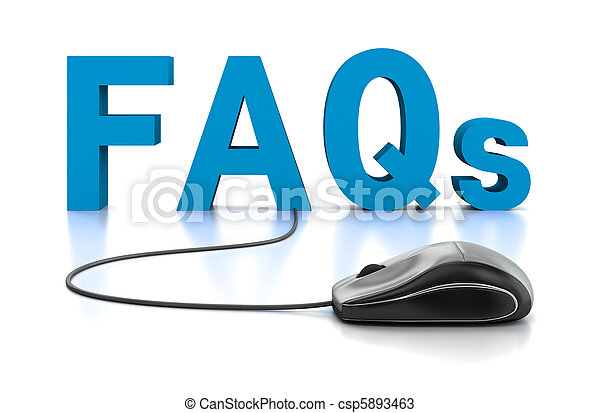FAQs 3D Text with Computer Mouse - csp5893463