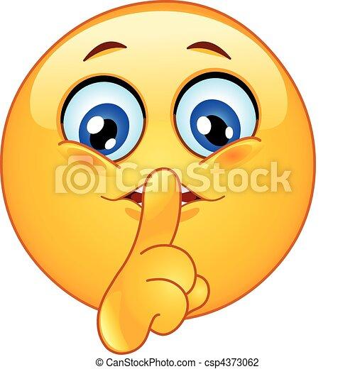 far tacere, emoticon - csp4373062