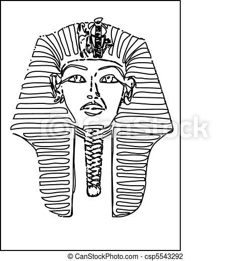 Disegno Di Un Faraone.Vettore Faraone