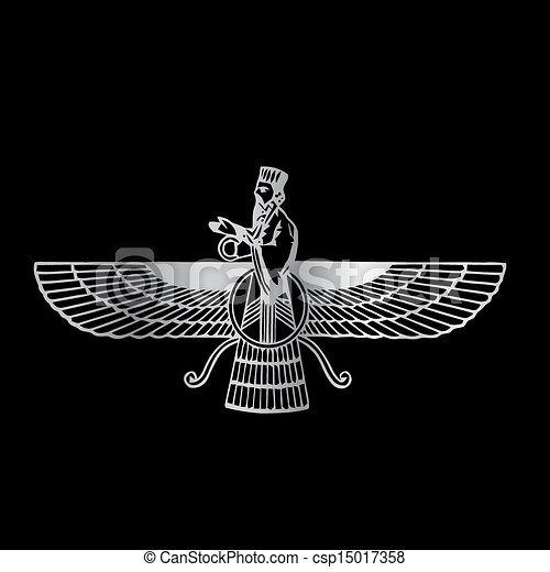 Faravahar- Symbol of Zoroastrianism - csp15017358