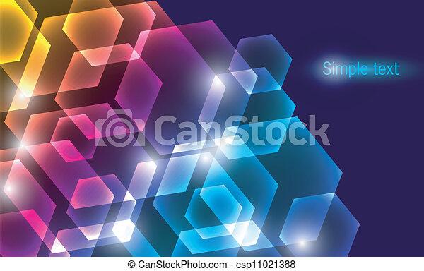 farbe, abstrakt, glühen, hintergrund - csp11021388