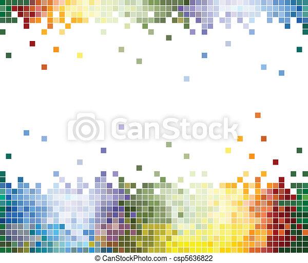 Farben Pixel abstrakter Hintergrund - csp5636822