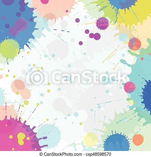 Farbe, aquarell, abstrakt, spritzen, vektor. Farbe,... Vektoren ...