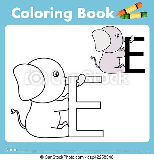 Farbe, buch, illustrator, tier, elefant EPS Vektor - Suche Clipart ...