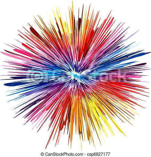farbe, explosion - csp6827177