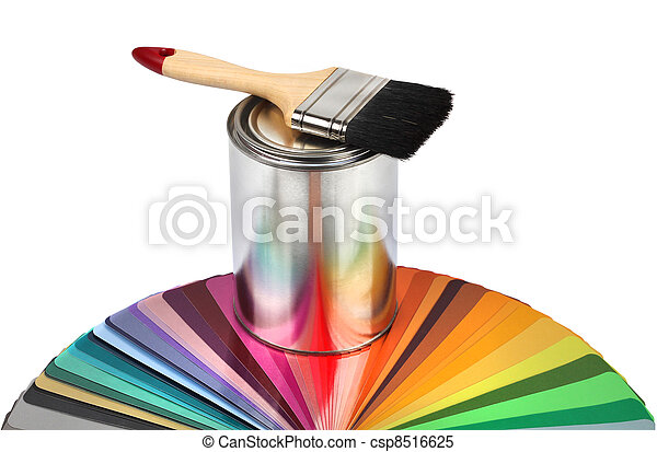 Farbbürste und Farbführerproben - csp8516625
