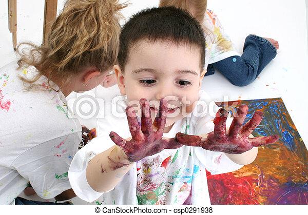 Fingerfarbe - csp0291938