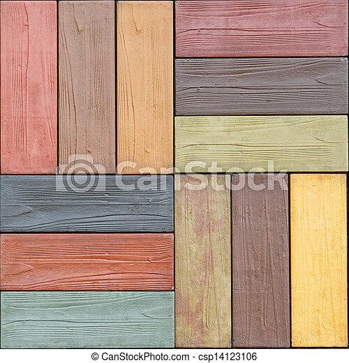 Farbe Holz Dekorativ Fliesenmuster Gemacht Bunte Holz