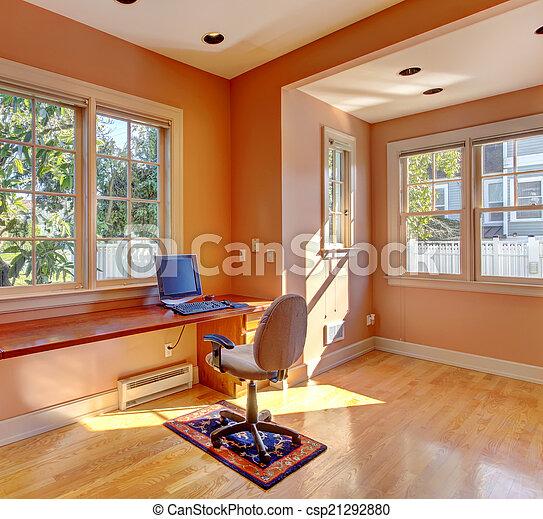 farbe inneneinrichtung buero zimmer pfirsich hell buero zimmer pfirsich buero. Black Bedroom Furniture Sets. Home Design Ideas