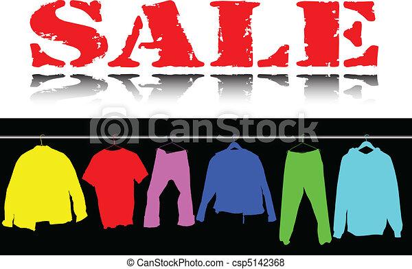 Sale Bekleidungsfarbe illustriert - csp5142368