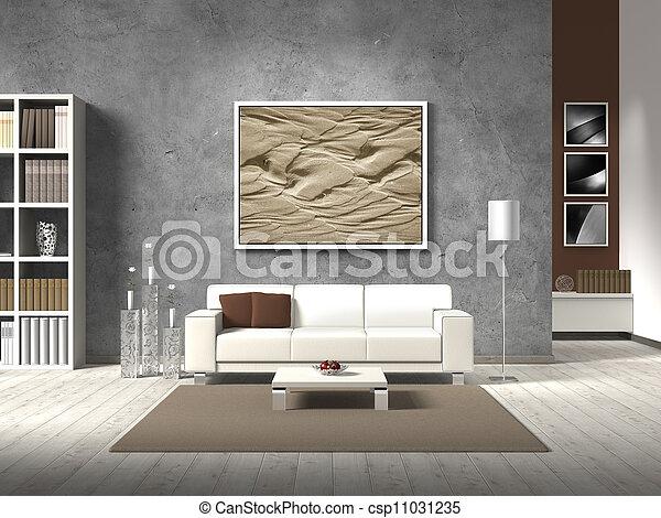 Farbe, Lebensunterhalt, Modern, Natürlich, Zimmer   Csp11031235