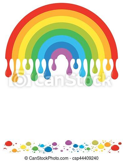 Farbe Regenbogen Tropfen Regenbogen Farbe Freigestellt