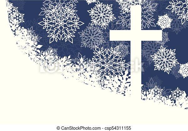 Weihnachten Im Christentum.Farbe Schneeflocke Abstrakt Christentum Vektor Hintergrund Weihnachten Rotes