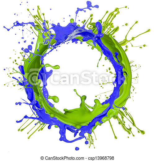 farbe, spritzen, bunte - csp13968798