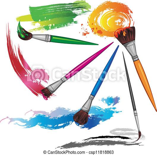 Farbe, spritzer, pinsel Clipart Vektor - Suchen Sie nach Zeichnungen ...