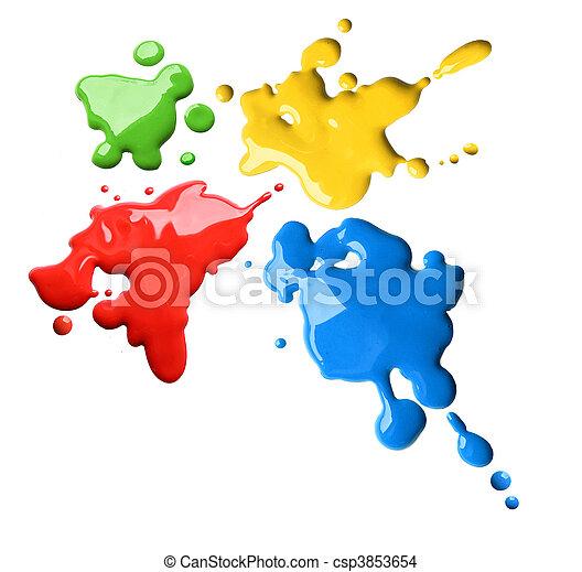 farbe, spritzer - csp3853654