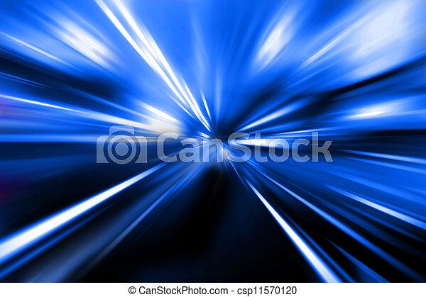 farbe, straße, magisches, nacht - csp11570120