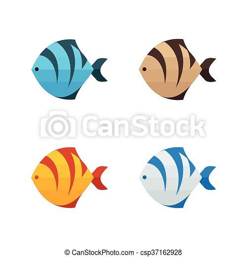 Farbe, tiger, fische, 4 Vektor Illustration - Suche Clipart ...