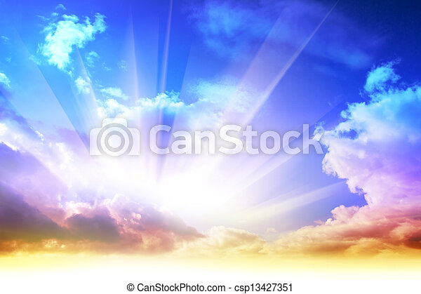 farbenfreudiger sonnenaufgang - csp13427351