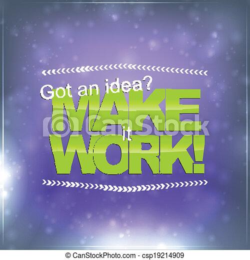 fare, lavoro, esso - csp19214909