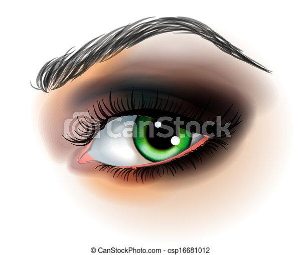 fare, vettore, occhio, su, illustrazione - csp16681012