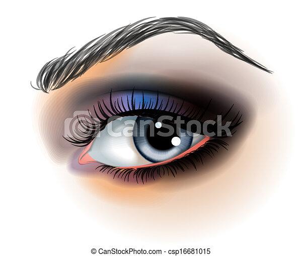 fare, vettore, occhio, su, illustrazione - csp16681015