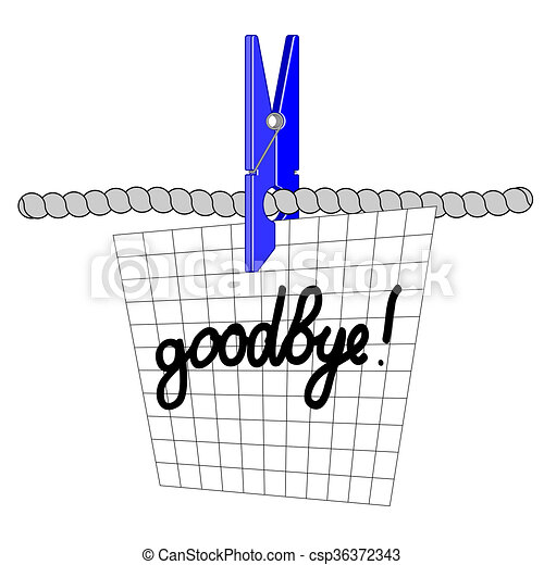 Farewell note on the sheet in the box drawing search clip art farewell note csp36372343 thecheapjerseys Image collections