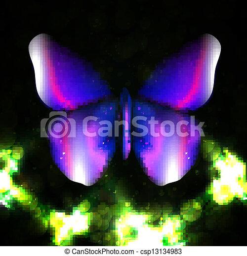 farfalla, astratto, baluginante - csp13134983