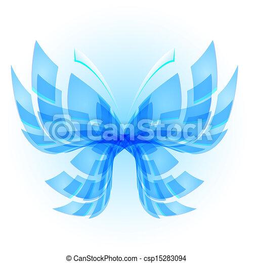 farfalla, astratto - csp15283094