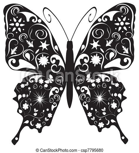 farfalla, astratto - csp7795680
