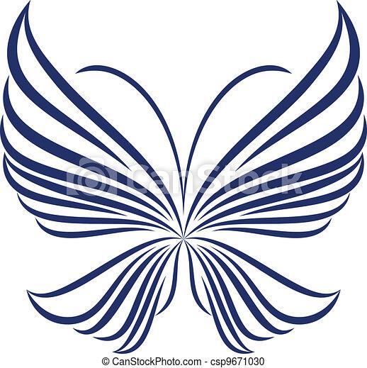 farfalla, astratto - csp9671030