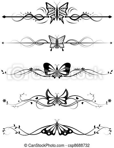 farfalla, divisori, set - csp8688732