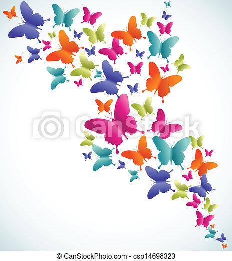 farfalla, estate, schizzo - csp14698323