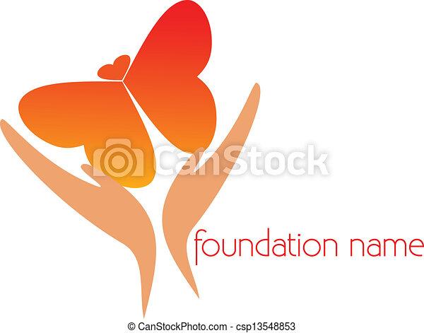 farfalla, fare, volare, mani - csp13548853