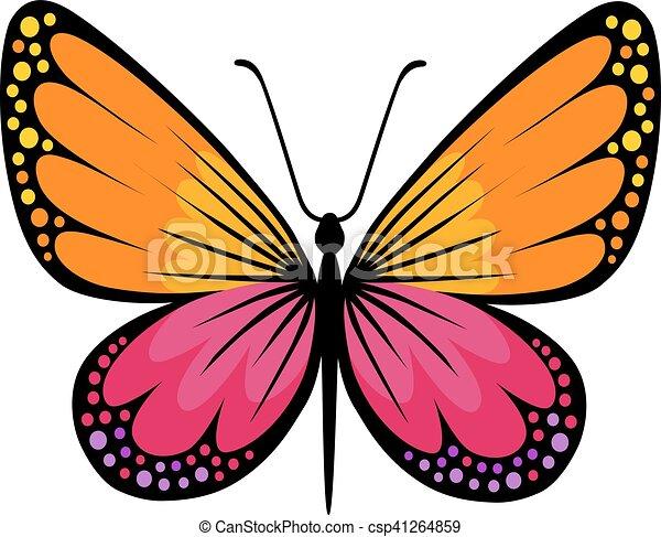 farfalla, logotipo, colorato - csp41264859