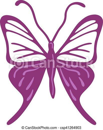 farfalla, logotipo, colorato - csp41264903