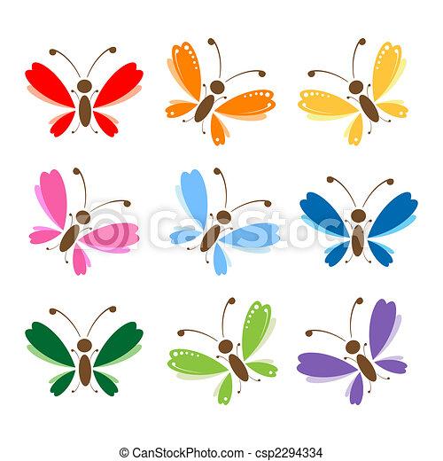 farfalla, progetto serie, tuo - csp2294334