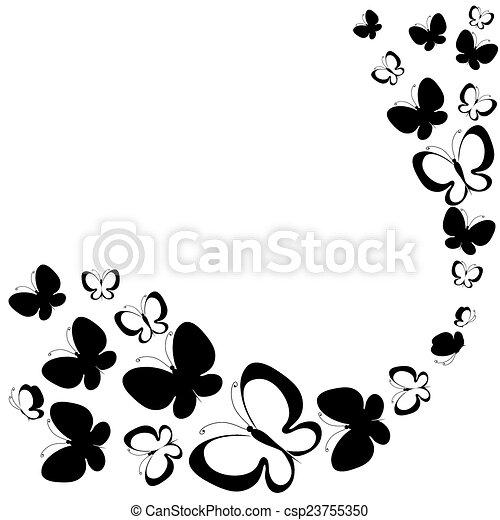 farfalle, disegno - csp23755350