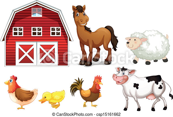 Farm animals - csp15161662